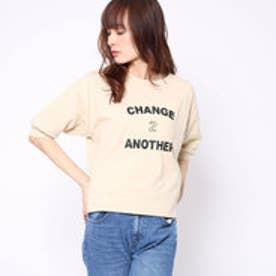 ファクターイコール Factor= 10番糸ロゴ半袖Tシャツ (BEG)
