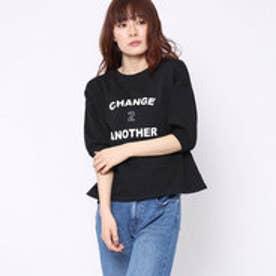 ファクターイコール Factor= 10番糸ロゴ半袖Tシャツ (BK)
