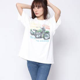 ファクターイコール Factor= ヴィンテージバイクTシャツ (WH)