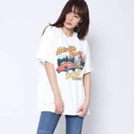 ファクターイコール Factor= アメ車プリントTシャツ (WH)