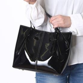 サビーナドンナ Sabina Donna 【日本製】人工皮革(エナメル加工)トートバッグ (ブラック)
