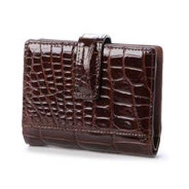 サビーナドンナ Sabina Donna 【日本製】 クロコダイル二つ折り財布 (ブラウン)