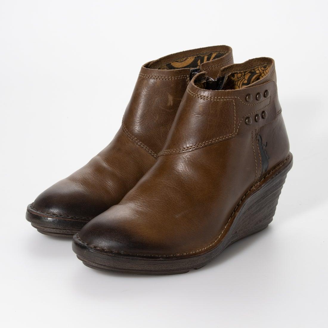 ヨーロッパコンフォートシューズ EU Comfort Shoes FLYLONDON スニーカー (オリーブ)