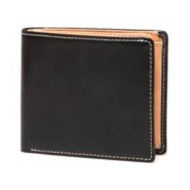 ブリティッシュグリーン BRITISH GREEN レザー2つ折り財布(ブラック)