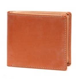 ブリティッシュグリーン BRITISH GREEN レザー2つ折り財布(ブラウン)