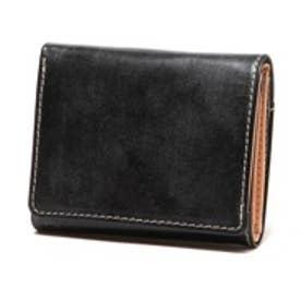 ブリティッシュグリーン BRITISH GREEN レザー胸ポケット財布(ブラック)