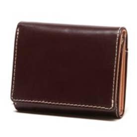 ブリティッシュグリーン BRITISH GREEN レザー胸ポケット財布(バーガンディ)