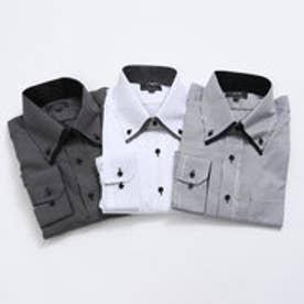 フランコ コレツィオーニ FRANCO COLLEZIONI モノトーンドレスシャツ3枚組 (ホワイト・ブラックドット・ストライプ)