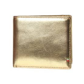 ゴルベ GORBE ゴールドイタリアンレザー二つ折り財布 (ゴールド)