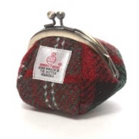ハリスツイード Harris Tweed 日本製ハリスツイードお手玉がまぐち (レッド)