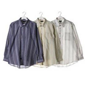 タクミ 匠 しじら織りレギュラーカラーシャツ3枚組(長袖) (マルチカラー)