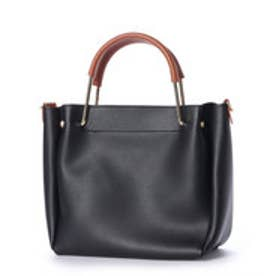 ミニア minia ゴールドハンドルバッグ (ブラック)