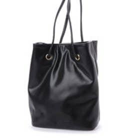 ミニア minia 巾着バッグ(PU/チェック) (ブラック)