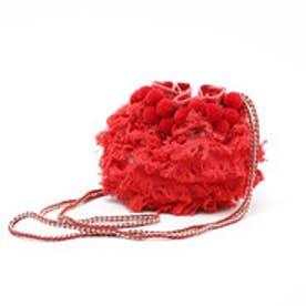 インターステイプル interstaple ポンポンミニドロスト巾着 (RED)