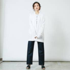 インターステイプル interstaple ★5P/リネンシャツジャケット (WHT)