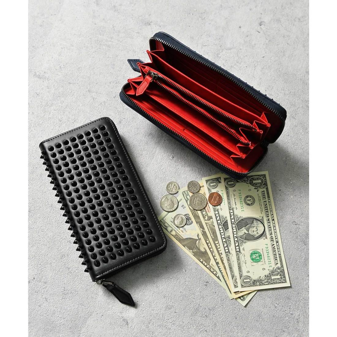 fcf9f2bfb281 アッド Add+ 本革スタッズ長財布 ラウンドジップロングウォレット (ブラック) -靴&ファッション通販 ロコンド〜自宅で試着、気軽に返品
