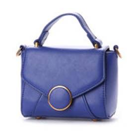 ピーシーティー P・C・T スクエアミニハンドバッグ/ショルダーバッグ (BLUE)