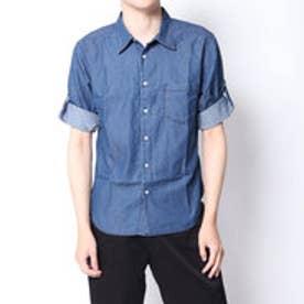 イーブス サプライ YEVS supply デニムロールUPシャツ (ネイビー)