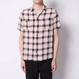 イーブス サプライ YEVS supply 開襟チェックシャツ (ベージュ)
