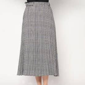 イーブス サプライ YEVS supply グレンチェックロングプリーツスカート (ブラック)