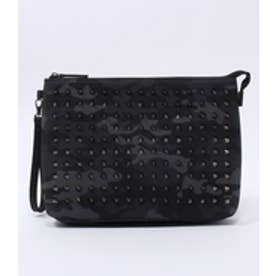 【AZUL BY MOUSSY】スタッズクラッチバッグ 柄BLK