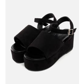 【AZUL BY MOUSSY】プラットホームFスエードサンダル BLK