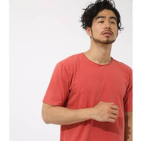【AZUL BY MOUSSY】ピグメント天竺クルーネック半袖T L/RED