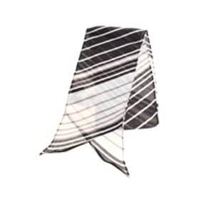 【AZUL by moussy】バイアスマルチボーダー細幅スカーフ 柄BLK
