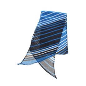 【AZUL by moussy】バイアスマルチボーダー細幅スカーフ 柄BLU