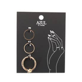 【AZUL by moussy】ナットSETリング(CARD) L/GLD