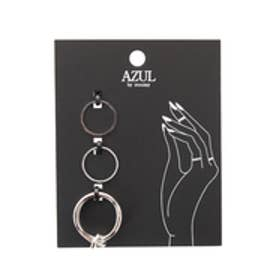【AZUL by moussy】ナットSETリング(CARD) SLV