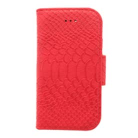 【AZUL by moussy】パイソン柄ダイアリー型スマホケース(5.5S.SE) RED