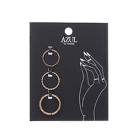 【AZUL by moussy】デザインメタルSETリング(CARD) L/GLD
