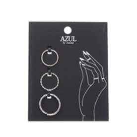 【AZUL by moussy】デザインメタルSETリング(CARD) SLV