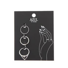 【AZUL by moussy】トライアングルモチーフSETリング SLV