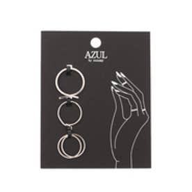 【AZUL by moussy】メタルリング4本SETII(CARD) SLV