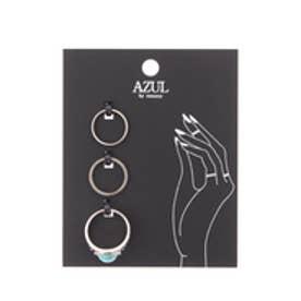 【AZUL by moussy】アンティーク調ストーンSETリング SLV
