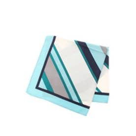 【AZUL BY MOUSSY】バイヤスボーダースカーフ 柄SAX