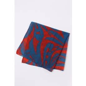 【AZUL BY MOUSSY】70×70サファリ柄スカーフ 柄BLU