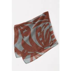 【AZUL BY MOUSSY】70×70サファリ柄スカーフ 柄BRN