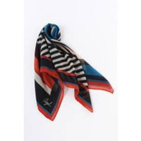 《WEB限定サマーセール》【AZUL BY MOUSSY】ジオメストライプ柄スカーフ [MOOK掲載]  97062 柄ORG