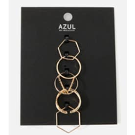【AZUL BY MOUSSY】チェーンモチーフ5本SETリング L/GLD