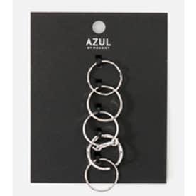 【AZUL BY MOUSSY】ラウンドモチーフ5本SETリング SLV
