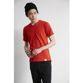 《4/23まで期間限定価格》【AZUL by moussy】DRY MIX ニットVネック半袖プルオーバー RED