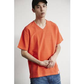 【AZUL by moussy】カラータック天竺Vネック半袖T RED