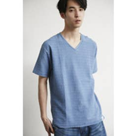 【AZUL by moussy】カラータック天竺Vネック半袖T NVY