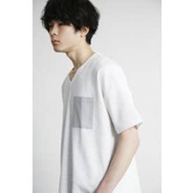 《4/26までWEB限定セール》【AZUL BY MOUSSY】スラブピケVネック半袖ポケT WHT