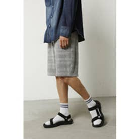 《WEB限定サマーセール》【AZUL BY MOUSSY】ジグザグ柄裏毛ショーツ L/GRY