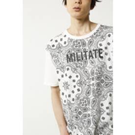 【AZUL by moussy】MILITATEペイズリークルーネック半袖TMOOK番号94218 WHT