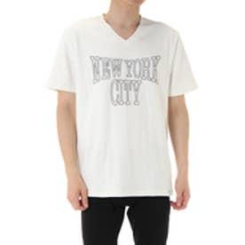 【AZUL by moussy】NYC発泡ロゴVネック半袖TMOOK番号94223 WHT